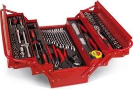 Ampro tools monteurskoffer met inhoud, 76 delig T47131