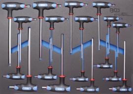 BGS foam module 3/3: T-sleutel set torx en inbus 18 delig