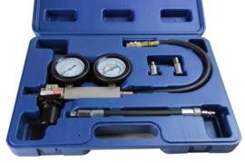 Cilinder lekkage tester (leakdown tester) set, Huismerk