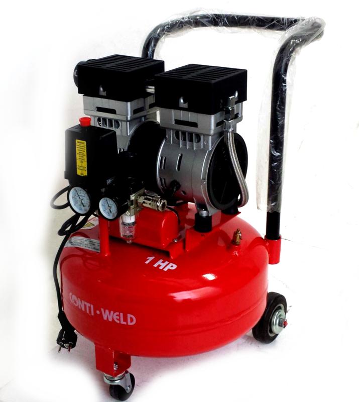 Contiweld 16 liter 2 cilinder LOW NOISE compressor
