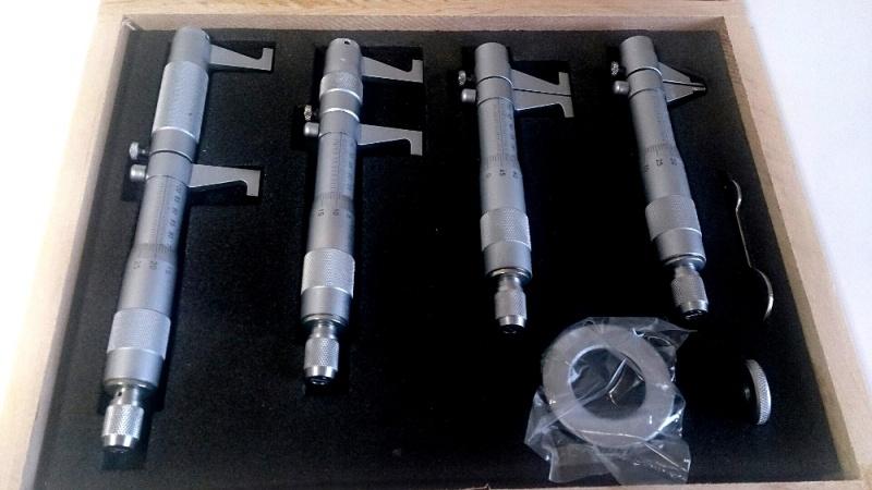Binnen micrometer / schroefmaat set, 4dlg, 5>100mm
