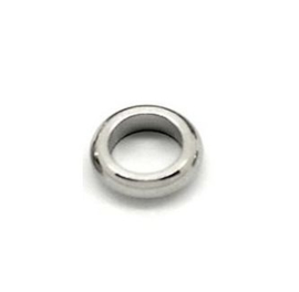 Gesloten ringetje 5.5mm zilverkleur RVS (1st.)