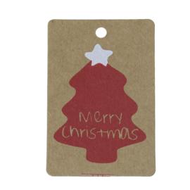 Craft Papieren Sieraden Label Kerst (50st)