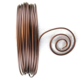 AluDeco Wire 2mm Chocolate Mat Round (5m)