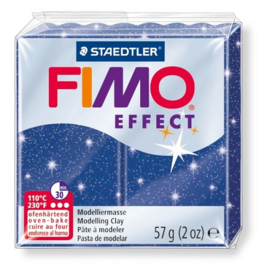 Fimo Effect  Glitter Blauw  No.302