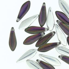 Dagger Bead  Backlit Purple Haze  5x16mm (25st)