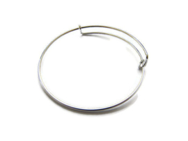 Bangle Silver Plated voor bedels