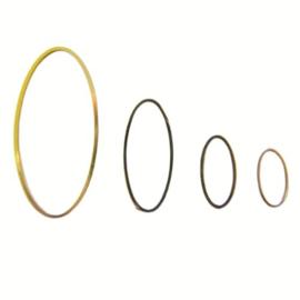 Ring OVAAL GOUDKLEURIG  4x2 cm