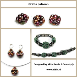 Gratis Download: Patroon Xitin Beaded Samos (Slider) Bead