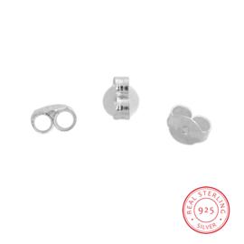Achterkantjes voor oorstekertjes,  925 zilver (2st.)
