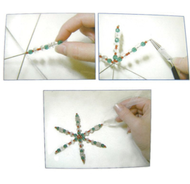 VOORDEELVERPAKKING Wire Snowflake / Draadster (8st.)