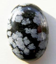 Sneeuwvlok Obsidiaan Cabochon 25x18mm