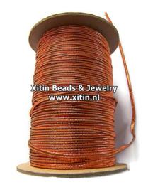 Soutache Koord Rayon Smooth Metallic Copper 2,3mm
