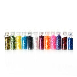Setje met 12 kleuren Glitters (grof)