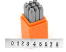 Sans Serif Economy Basic Cijfer Set 1.5mm ImpressArt