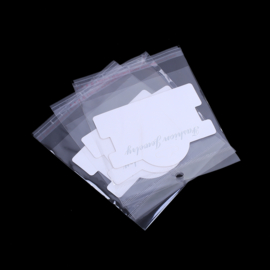Sieradenverpakking voor armbandjes, wit met zakje (ca 30 stuks)