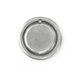 Circle Border Large Pewter