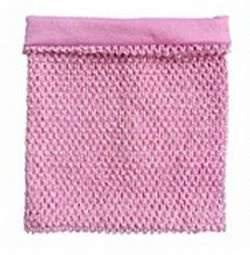 Gehaakte Top GEVOERD Baby Pink M+  (maat 116 t/m 134)