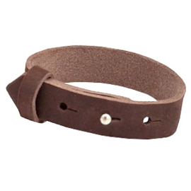 Cuoio Armband NUBUCK Leer 15mm Chocolat Brown