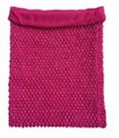 Gehaakte Top GEVOERD Hot Pink M+  (maat 116 t/m 134)