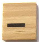 Houten Scrabble Symbool -