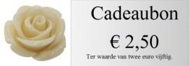 Cadeaubon 2,50 euro