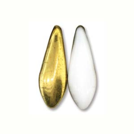 Dagger Bead  White Amber 5x16mm (25st)