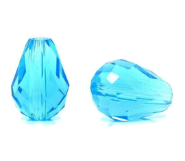 Druppel Aqua Blauw 12x8mm