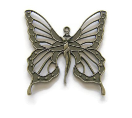 Hanger Vlindervrouw Bronskleur