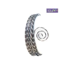 AluDeco Wire 2mm Chocolate Mat Diamond Cut (5m)