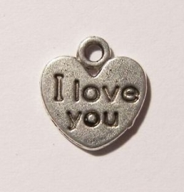 Bedel hartje I Love You 12x11mm