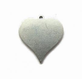 Tag Hart aluminium 21x19mm met oogje