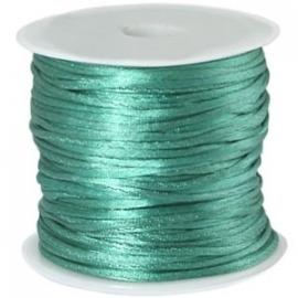 Satijnkoord Toermalijn Groen 1mm dik