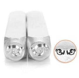 Design stempel set Flourish End L 6mm ImpressArt