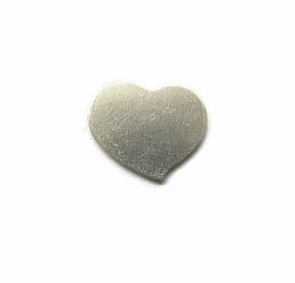 Tag Swirly Heart aluminium 19mm