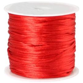 Satijn koord Rood 1.5mm dik