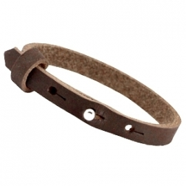 Cuoio Armband Nubuck Leer 8mm Dark Chocolat Brown