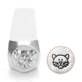 Design stempel Cat Face  6mm ImpressArt