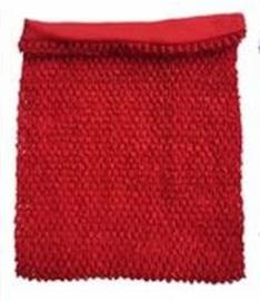 Gehaakte Top GEVOERD Red M+  (maat 116 t/m 134)