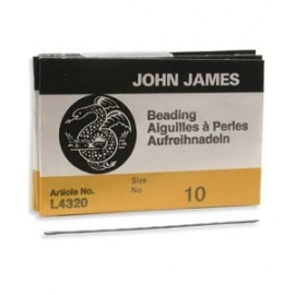 John James beading needles maat 10#