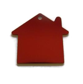 Tag Huisje Rood aluminium