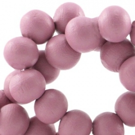 Houten ronde kraal Violet Rose 6mm (ca 100 stuks)