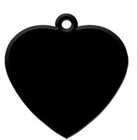 Heart Black aluminium