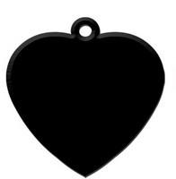 Heart Black aluminium