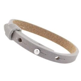 Cuoio Armband Leer 8mm Velvet Taupe