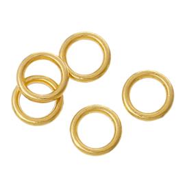 VOORDEELVERPAKKING 1000 stuks GESLOTEN Jump ring Gold Plated 6mm