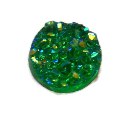 Druzy Resin cabochon rond  Groen 12mm