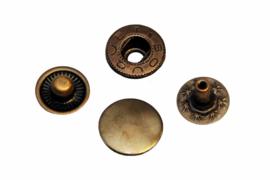 Leder drukknopen Brons 12mm dia (10 sets)
