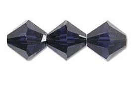 Swarovski kralen Bicone 4mm Dark Indigo (10st.)