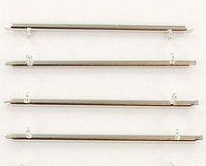 Miyuki Slide End Tubes Silver 60mm (set 2st.)